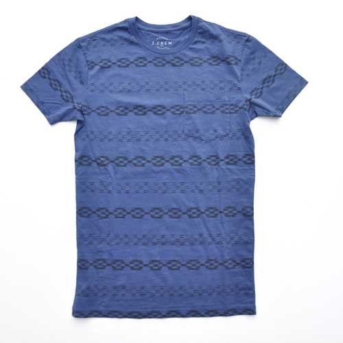 J.CREW/ジェイクルー ネイティブボーダー半袖ポケット付Tシャツ