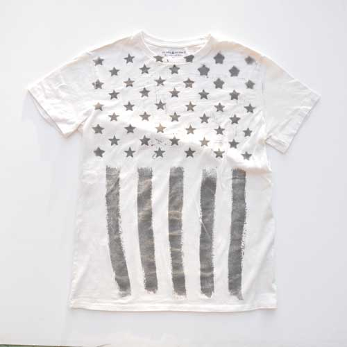 DENIM&SUPPLY/デニム&サプライ アメリカン フラッグ グラフィック半袖Tシャツ - 3