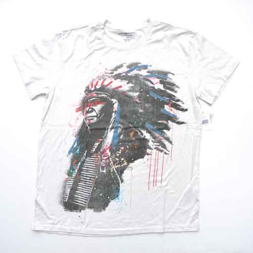 DENIM&SUPPLY/デニム&サプライ フロントプリント半袖Tシャツ