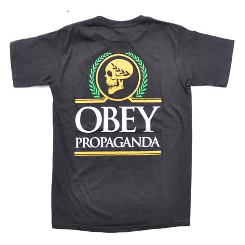 OBEY/オベイ スカルプリント半袖Tシャツ - 1