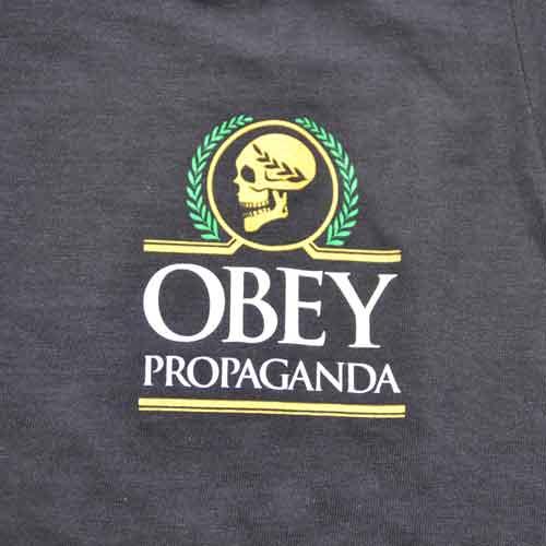 OBEY/オベイ スカルプリント半袖Tシャツ-4