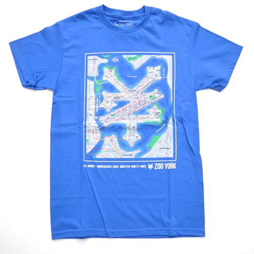 ZOO YORK/ズーヨーク 半袖Tシャツ ブルー
