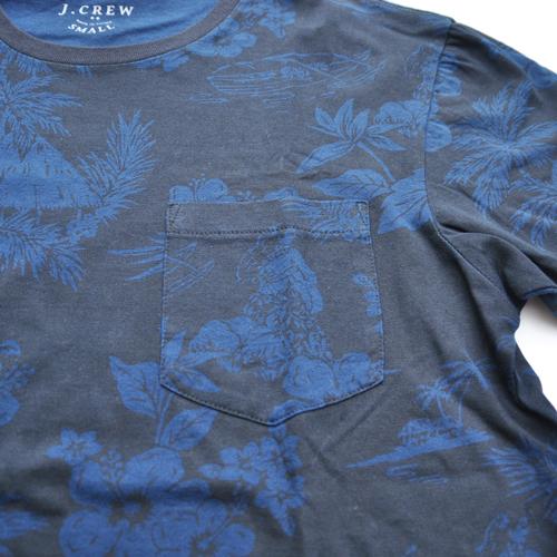 J.CREW/ジェイクルー 半袖ポケット付フローラルTシャツ - 2