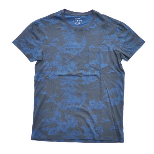 J.CREW/ジェイクルー 半袖ポケット付フローラルTシャツ