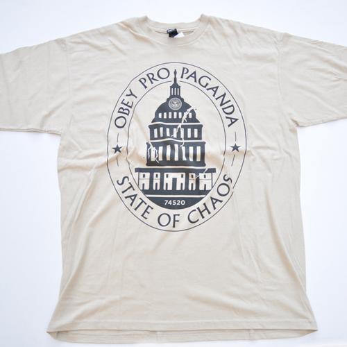 OBEY/オベイ フロントプリント 半袖Tシャツ - 3