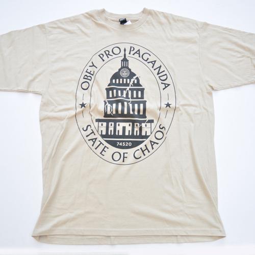 OBEY/オベイ フロントプリント 半袖Tシャツ