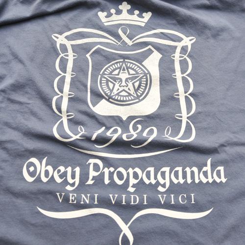 OBEY/オベイ 半袖Tシャツ ネイビー BIG SIZE - 2