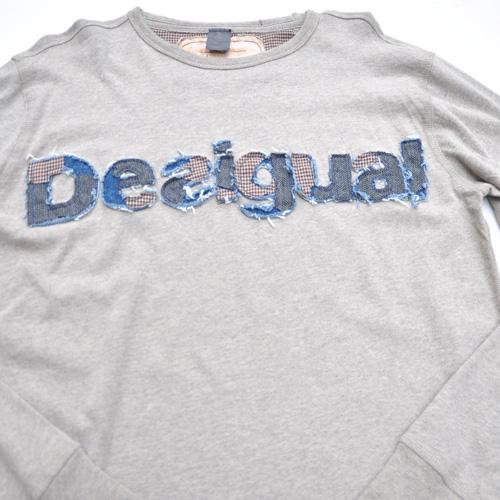 DESIGUAL/デシグアル フロントフェルト加工プリントロングスリーブTシャツ - 1