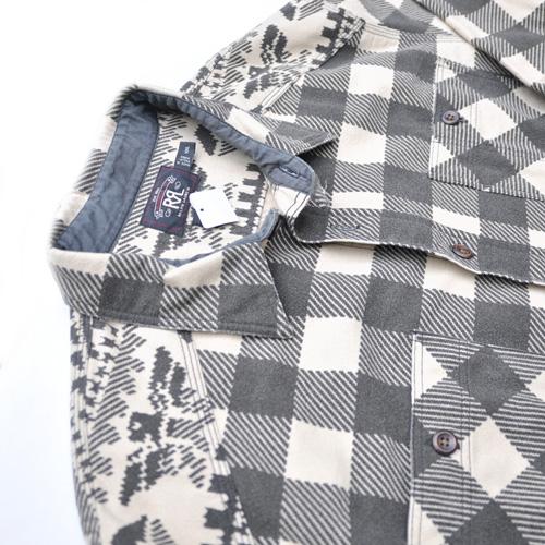 RRL/ダブルアールエル ネイティブ柄ロングスリーブフランネルシャツ-3