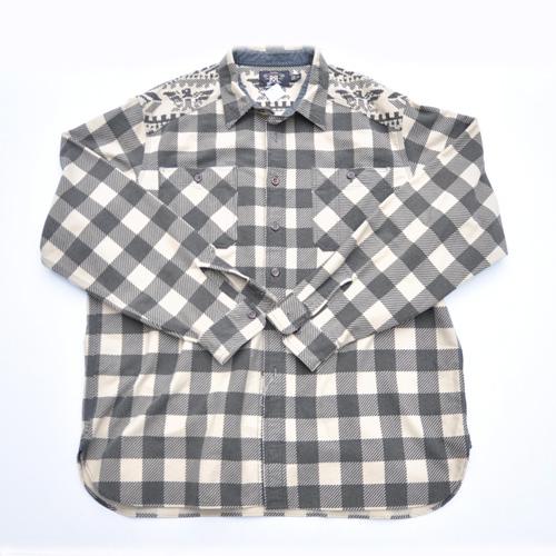 RRL/ダブルアールエル ネイティブ柄ロングスリーブフランネルシャツ