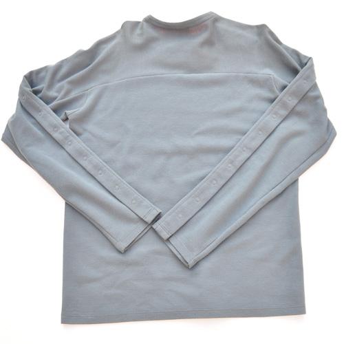 A/X  裏地レッドマルチボタンスウェットシャツ-2