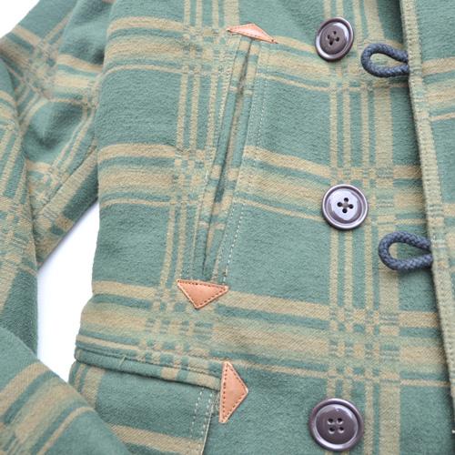 DENIM&SUPPLY/デニム&サプライ  襟ボアブロックチェック厚手コート-6