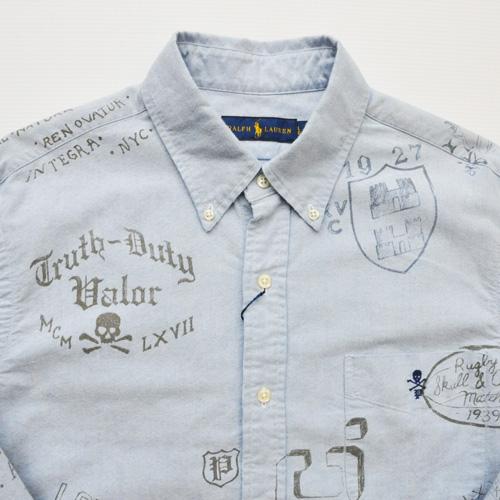 POLO RALPH LAUREN / ポロラルフローレン モノグラムシャンブレーシャツ - 2