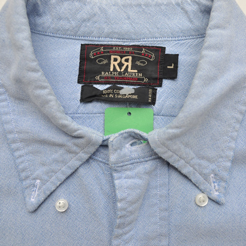 RRL /ダブルアールエル シャンブレーロングスリーブシャツ USED - 3