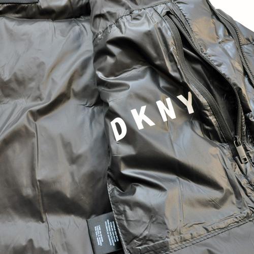 DKNY/ダナキャラン/ CLASSIC HOODED LOGO キルティングジャケット-5