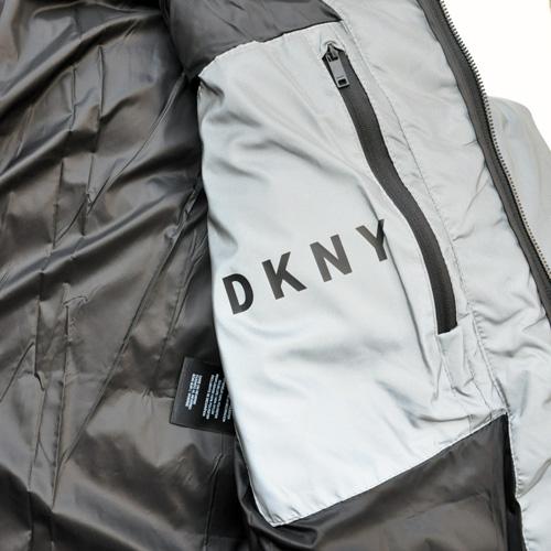 DKNY/ダナキャラン/ CLASSIC HOODED LOGO キルティングジャケット-6