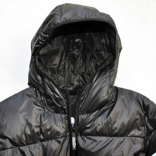 DKNY/ダナキャラン/ CLASSIC HOODED LOGO キルティングジャケット-7