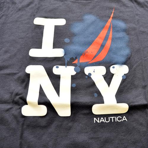 NAUTICA/ノーティカ  フロントプリント半袖Tシャツ - 1