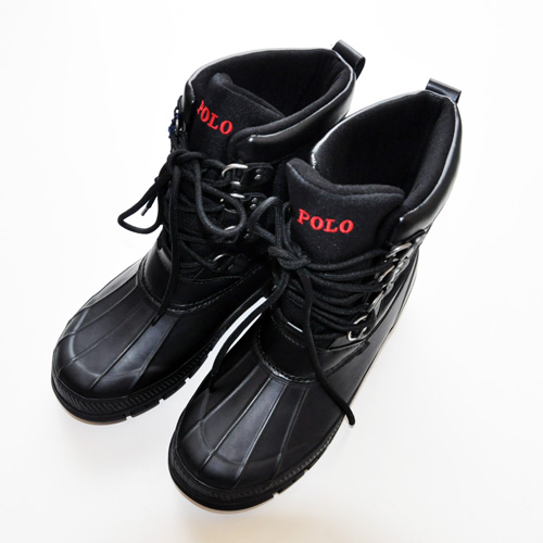 POLO RALPH LAUREN / ポロラルローレン LOWEN RUBBER WATERPROOF ブーツ ブラック - 1