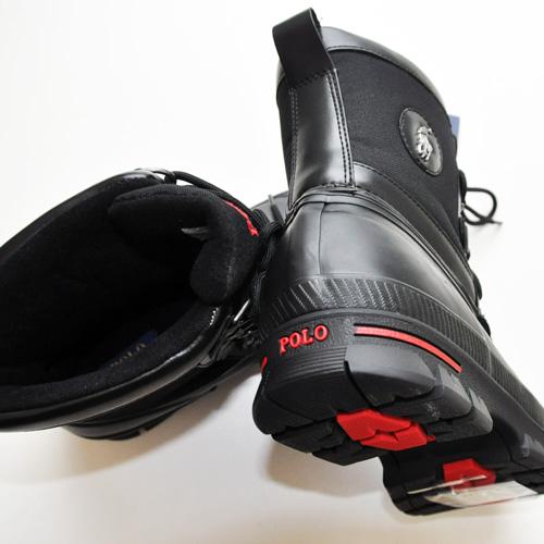 POLO RALPH LAUREN / ポロラルローレン LOWEN RUBBER WATERPROOF ブーツ ブラック - 3