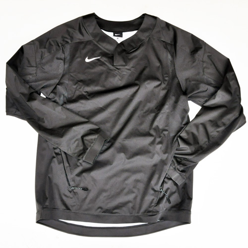 NIKE / ナイキ BASEBALL ロングスリーブゲームシャツ マットブラック 海外モデル BIG SIZE