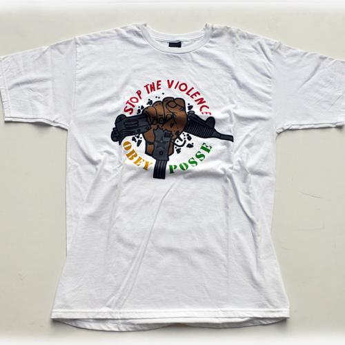 OBEY/オベイ フロントプリント半袖シャツ 2カラー