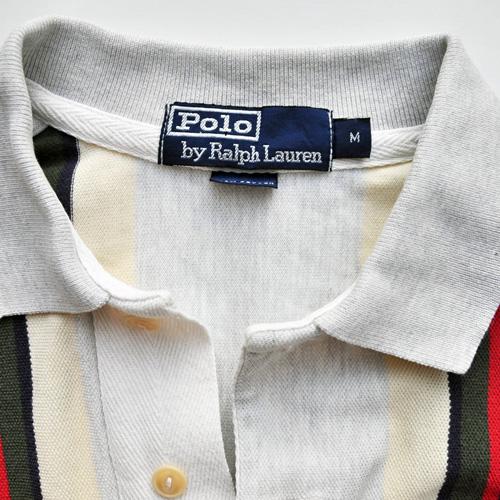 POLO RALPH LAUREN /ポロラルフローレン ストライプ半袖ポロシャツ vintage - 2