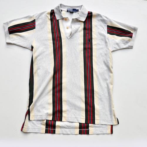 POLO RALPH LAUREN /ポロラルフローレン ストライプ半袖ポロシャツ vintage