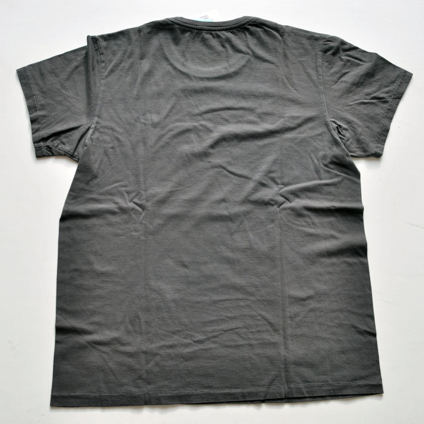 RRL/ダブルアールエル 半袖フロントロゴTシャツ チャコールグレー BIG SIZE-2