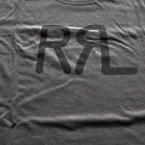 RRL/ダブルアールエル 半袖フロントロゴTシャツ チャコールグレー BIG SIZE-4