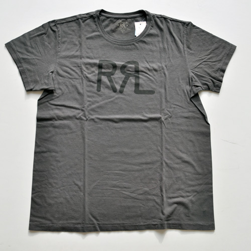 RRL/ダブルアールエル 半袖フロントロゴTシャツ チャコールグレー BIG SIZE