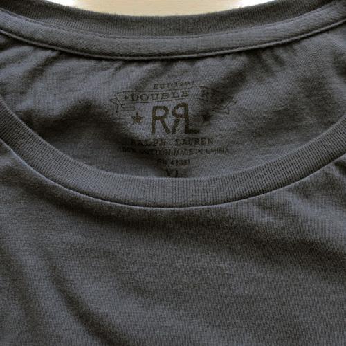 RRL/ダブルアールエル 半袖フロントロゴTシャツ ネイビー-3
