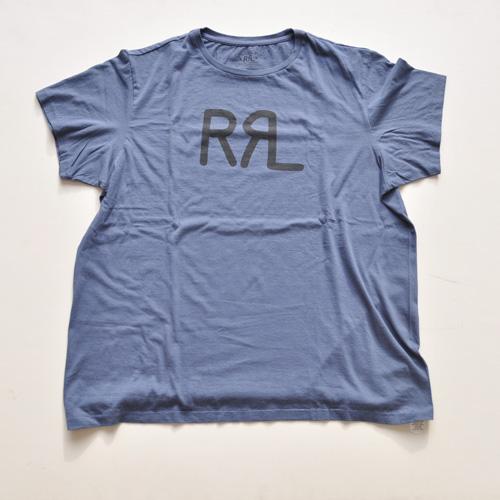 RRL/ダブルアールエル 半袖フロントロゴTシャツ ネイビー-4