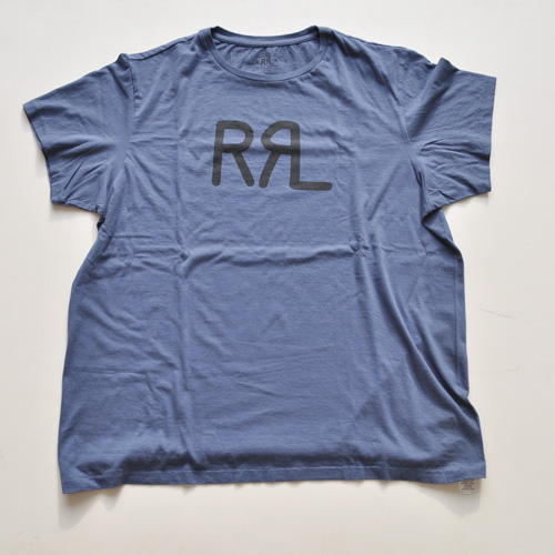 RRL/ダブルアールエル 半袖フロントロゴTシャツ ネイビー