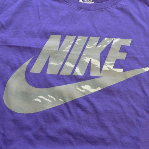 NIKE / ナイキ カモフラロゴTシャツ パープル US企画 - 2