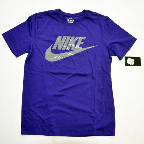 NIKE / ナイキ カモフラロゴTシャツ パープル US企画