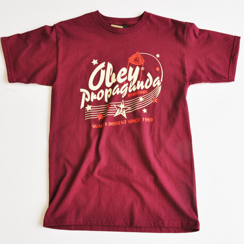 OBEY/オベイ グラフプリント半袖Tシャツ