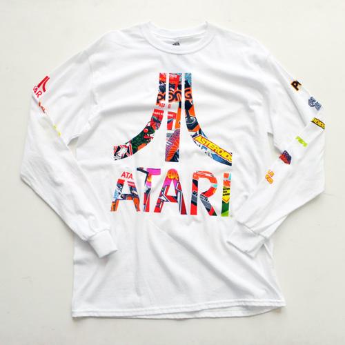 ATARI / アタリ ロゴロングスリーヴTシャツ ホワイト
