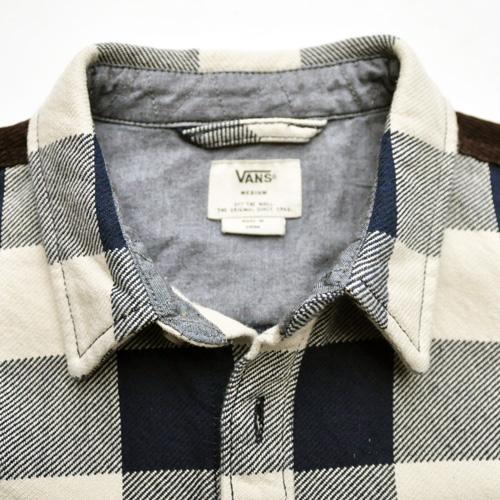 VANS/バンズ  厚手ブロックチェックジャケット ネイビー - 3