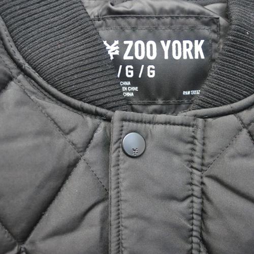 ZOO YORK/ズーヨーク キルティングMa-1ジャケット ブラック-4