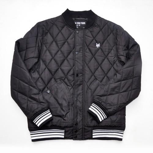 ZOO YORK/ズーヨーク キルティングMa-1ジャケット ブラック