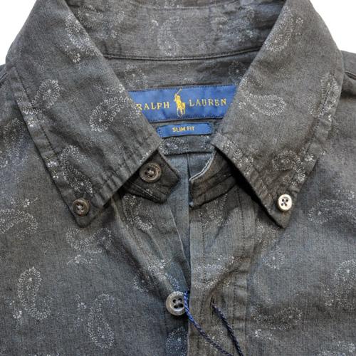 POLO RALPH LAUREN / ポロラルローレン 後染めペイズリーBDシャツ - 2