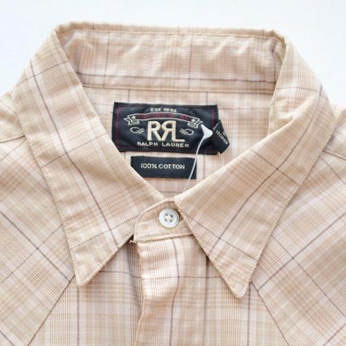 RRL/ダブルアールエル ウエスタンロングスリーブボタンシャツ-3