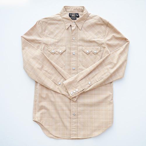 RRL/ダブルアールエル ウエスタンロングスリーブボタンシャツ