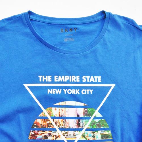 DKNY / ダナキャラン NEW YORK STATE 5Borough グラフィック L/S Tシャツ BIG SIZE ブルー - 2