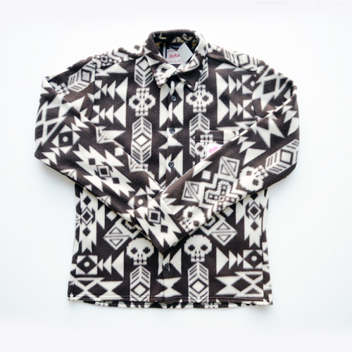 MILKRATE/ミルクレート フリースボタンシャツ