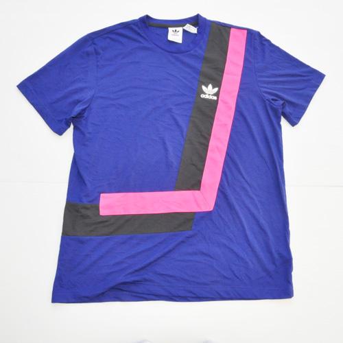 ADIDAS/アディダス カラー切り返しTシャツ BIG SIZE 海外限定モデル