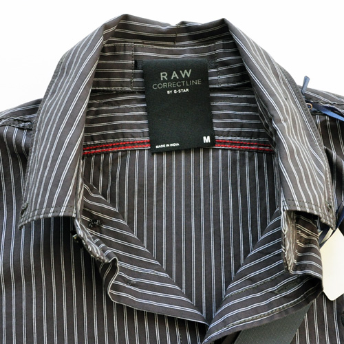 G-STAR Raw/ジースター ストライプボタンシャツ #2-3