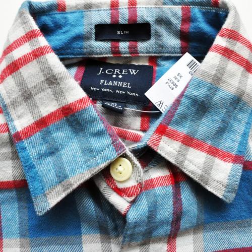 J.CREW / ジェイクルー ロングスリーブチェックシャツ ブルー×レッド-3