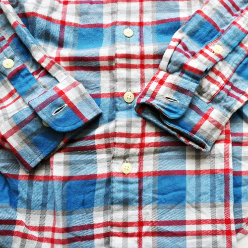 J.CREW / ジェイクルー ロングスリーブチェックシャツ ブルー×レッド-5